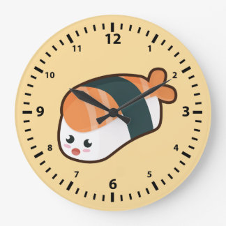 Kawaii nigiri Salmon Large Clock