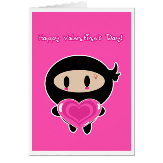 Kawaii Ninja Valentine s Day Card