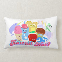 Kawaii Not Cute Characters Lumbar Cushion