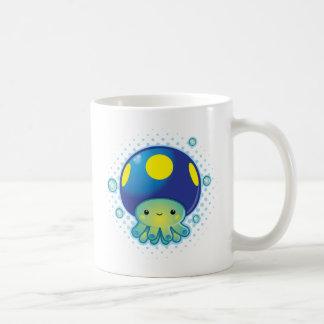 Kawaii Octopus Mushroom Basic White Mug