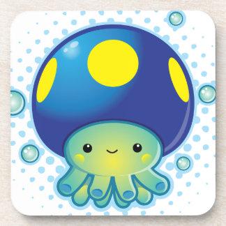 Kawaii Octopus Mushroom Beverage Coasters