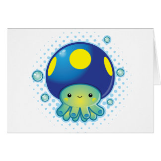 Kawaii Octopus Mushroom Greeting Cards