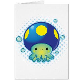 Kawaii Octopus Mushroom Card