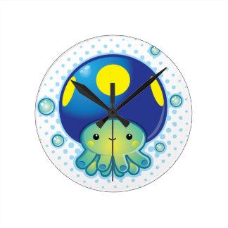 Kawaii Octopus Mushroom Wall Clock