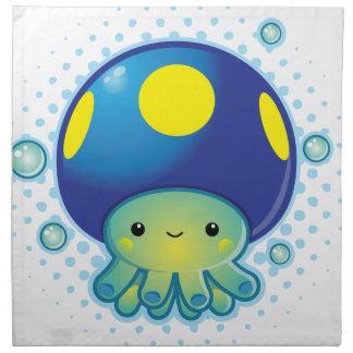 Kawaii Octopus Mushroom Printed Napkins