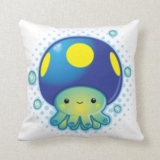 Kawaii Octopus Mushroom Throw Cushion