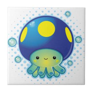 Kawaii Octopus Mushroom Ceramic Tiles