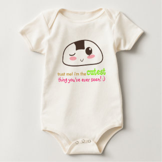 kawaii Onigiri {customisable} Baby Bodysuit