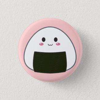 """Kawaii """"Onigiri"""" Rice Ball 3 Cm Round Badge"""