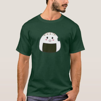 "Kawaii ""Onigiri"" Rice Ball with Bitemark T-Shirt"