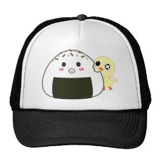 Kawaii Onigiri Rice Ball with Ejiki the Chick Mesh Hats