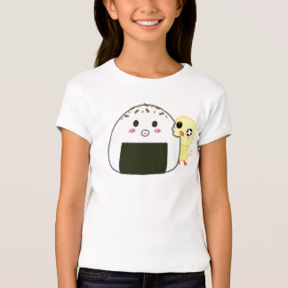"Kawaii ""Onigiri"" Rice Ball with Ejiki the Chick T-Shirt"
