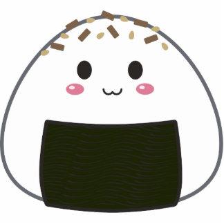 "Kawaii ""Onigiri"" Rice Ball with Toppings Photo Sculptures"