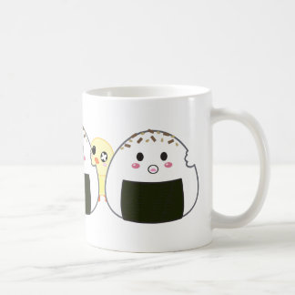 "Kawaii ""Onigiri"" Rice Balls Basic White Mug"