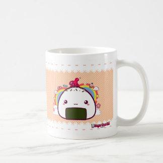 Kawaii Onigiri (Riceball) Basic White Mug
