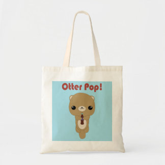 Kawaii Otter Soda Pop tote bag