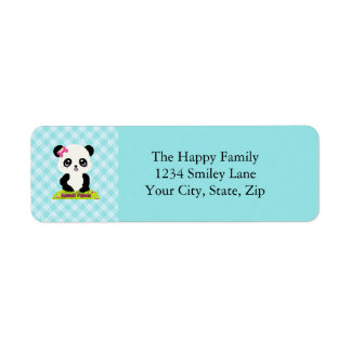 Kawaii Panda Address Labels