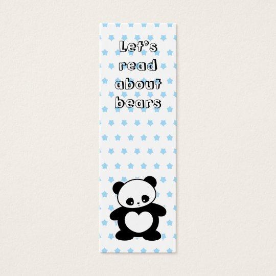 Kawaii panda bookmark mini business card