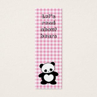 Kawaii manga business cards business card printing zazzle uk kawaii panda bookmark mini business card colourmoves