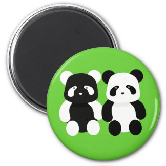 kawaii panda buddies magnet