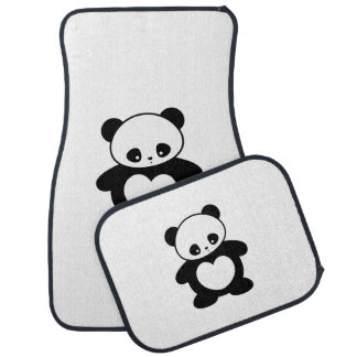 Kawaii panda car mat