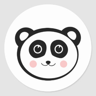 Kawaii Panda Classic Round Sticker