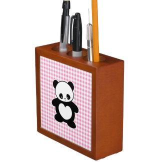 Kawaii panda desk organiser