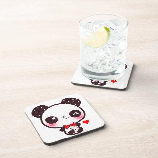 Kawaii panda drink coaster