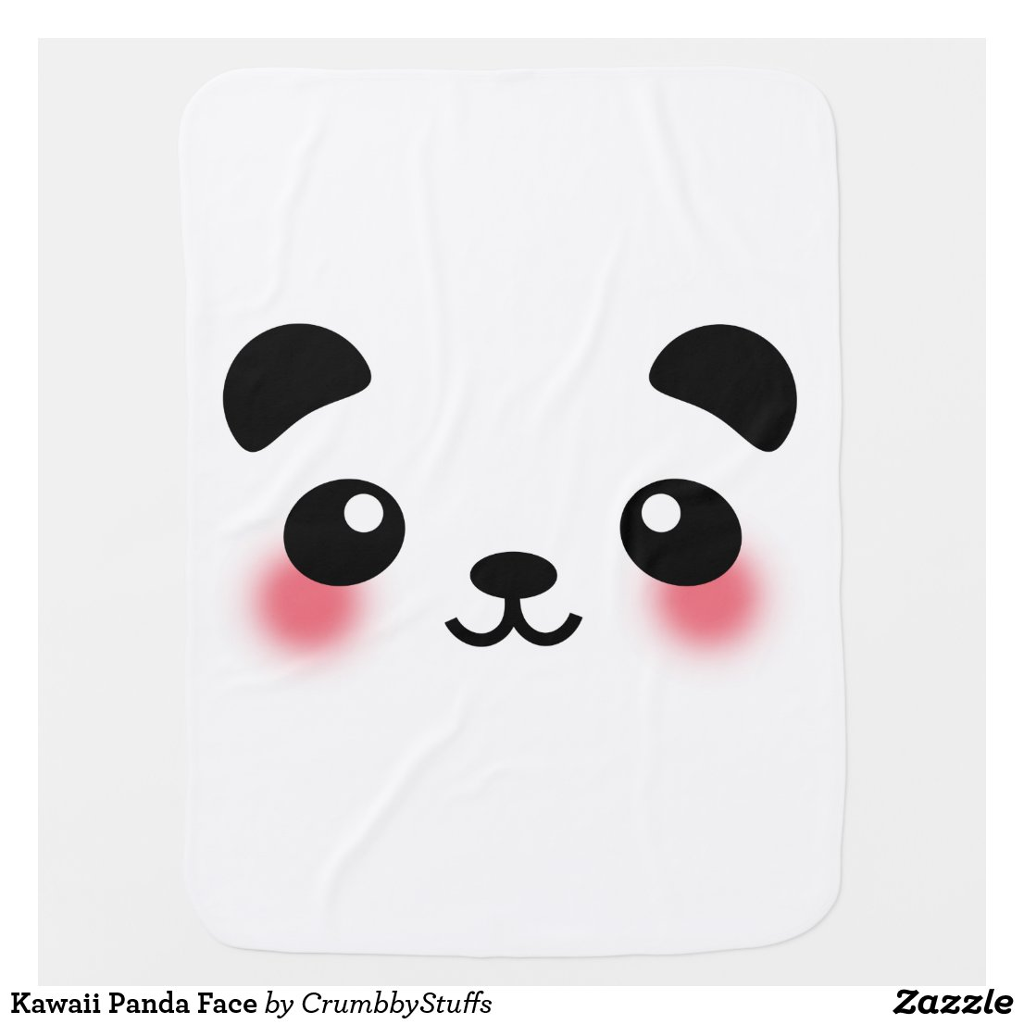Kawaii Panda Face Blanket