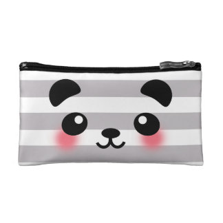 Kawaii Panda Face Cosmetic Bag