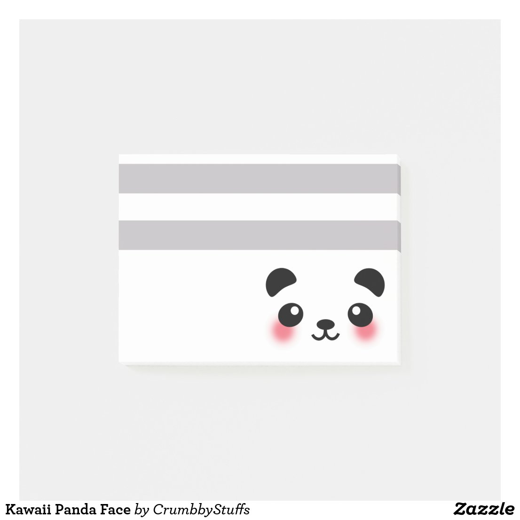 Kawaii Panda Face Post-it Notes