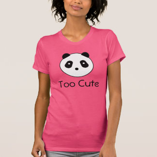 Kawaii Panda Face Tee Shirt
