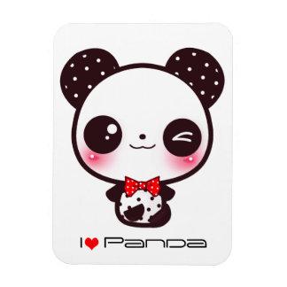 Kawaii panda rectangular photo magnet