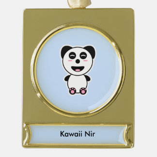 Kawaii Panda Gold Plated Banner Ornament
