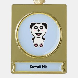 Kawaii Panda Gold Plated Banner Ornament