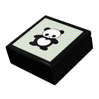Kawaii panda large square gift box