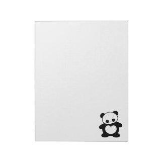 Kawaii panda notepad
