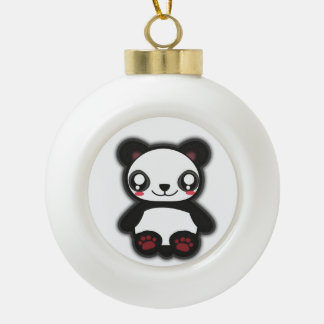 Kawaii panda ornament