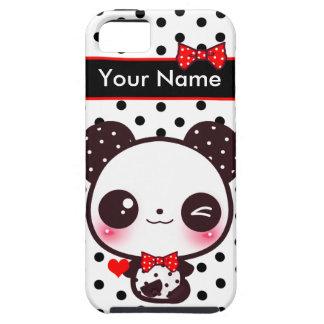 Kawaii Panda - Personalized Tough iPhone 5 Case
