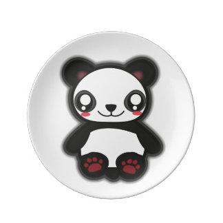 Kawaii panda plate porcelain plates
