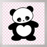 Kawaii panda poster