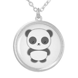 Kawaii Panda Round Pendant Necklace