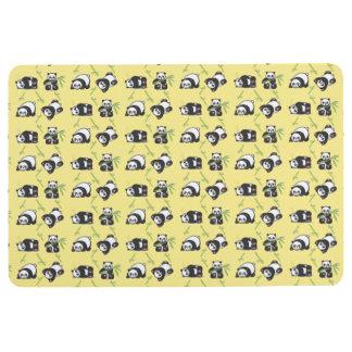 Kawaii Pandas Floor Mat