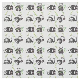 Kawaii Pandas Pima Cotton Fabric