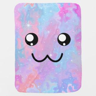Kawaii Pastel Cute Face Space Background Baby Blanket