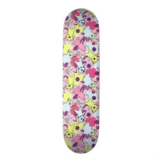 Kawaii pattern of Halloween cats Custom Skate Board
