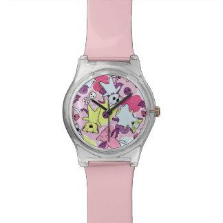 Kawaii pattern of Halloween cats Wrist Watches