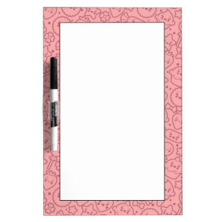 Kawaii pattern with cute cakes dry erase whiteboard