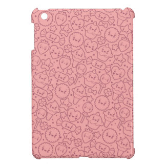 Kawaii pattern with cute cakes iPad mini cover