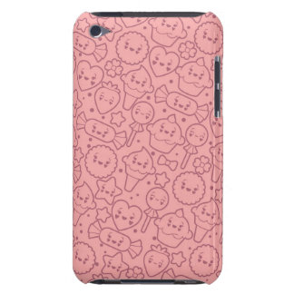 Kawaii pattern with cute cakes iPod Case-Mate case